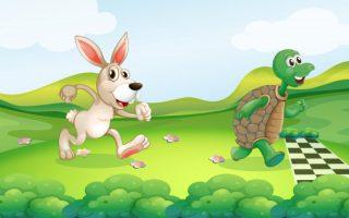dongeng kelinci dan kura kura